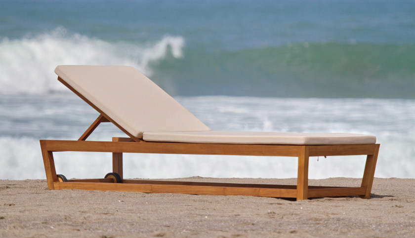 Recliner wooden garden daybed KOROGATED | Garden daybed by WARISAN