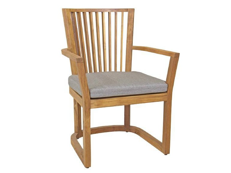 Wooden garden chair with armrests KOROGATED | Chair with armrests by WARISAN