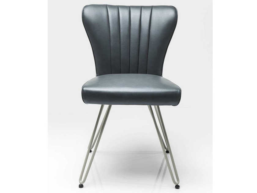Upholstered leather chair DINER by KARE-DESIGN