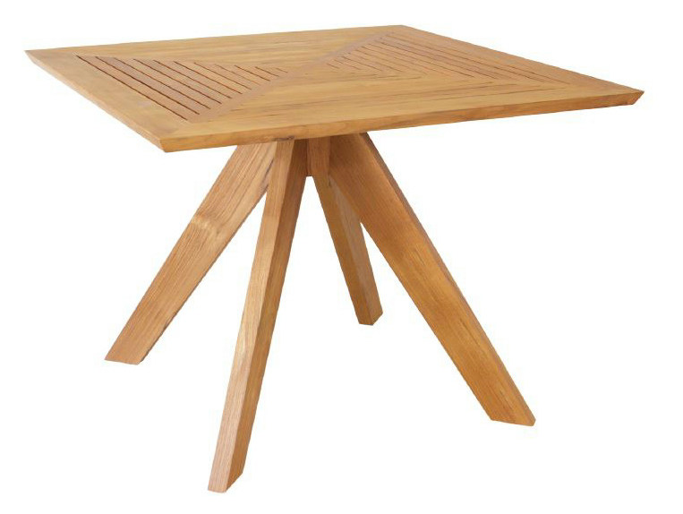 Square wooden dining table JALAN | Square table by WARISAN