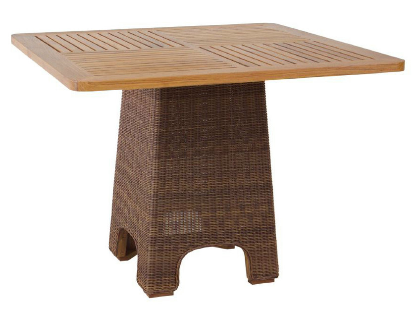 Square rattan dining table TEABU | Dining table by WARISAN