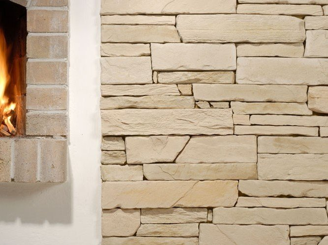 Wall tiles with stone effect SESTRIERE XL by Tegolaia