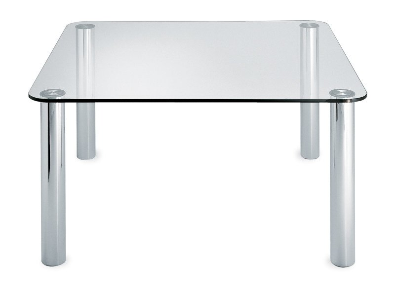 Square crystal table MARCUSO 2530 by Zanotta