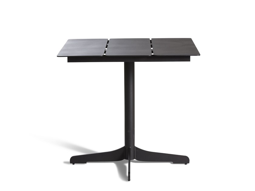 Aluminium high table with 4-star base CERU | Table by OASIQ