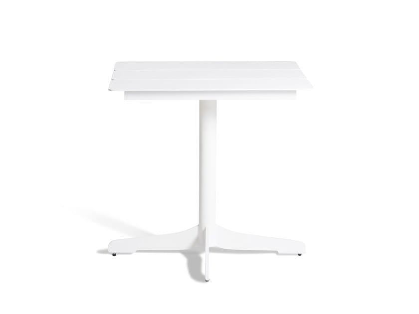 Aluminium high table with 4-star base CERU | Aluminium table by OASIQ