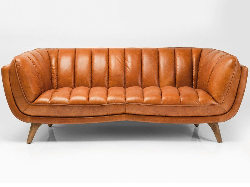 3 seater leather sofa BRUNO by KARE-DESIGN