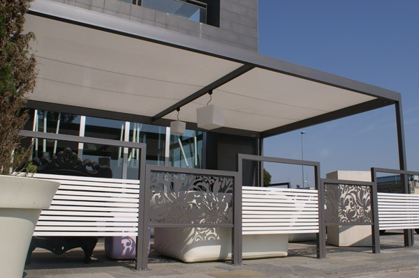 SAINT TROPEZ | Paravento per dehors in acciaio