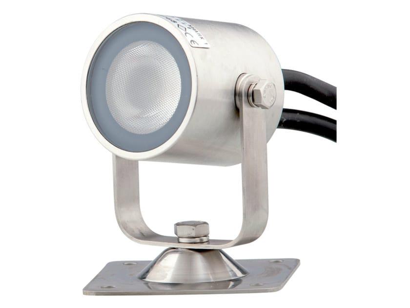 Proiettore per esterno a LED orientabile in acciaio inox con sistema RGB SHARK 1 by TEKNI-LED