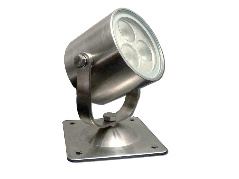 LED adjustable stainless steel Outdoor floodlight SHARK 3 by TEKNI-LED