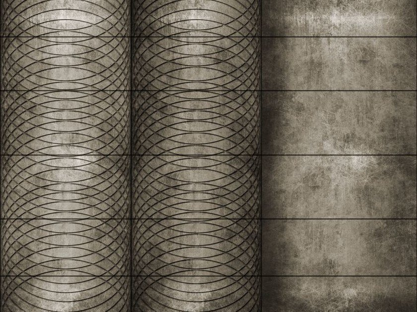 Motif geometric wallpaper CIRCLING by Wall&decò