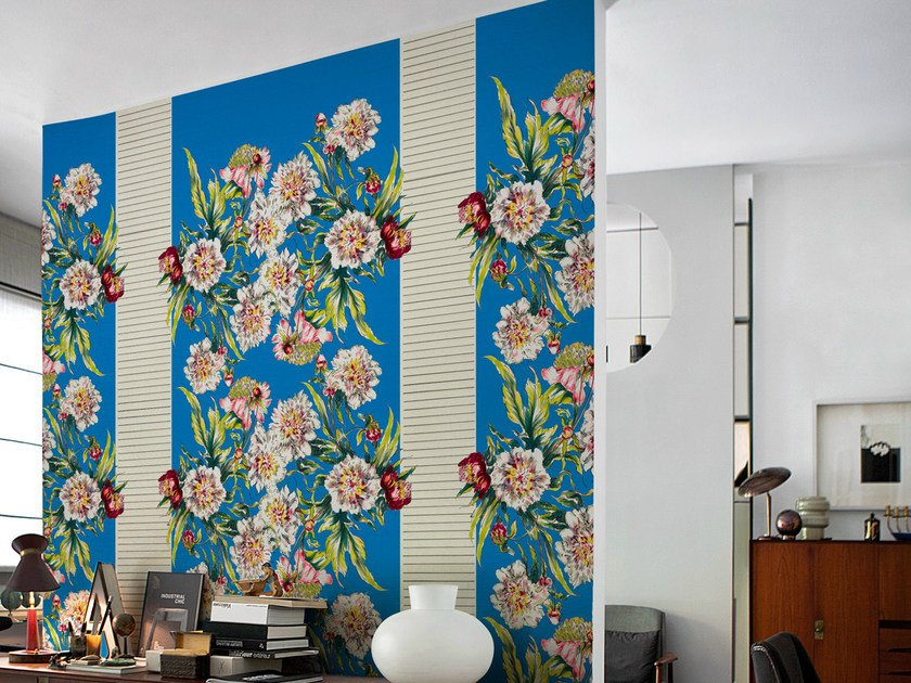 Wallpaper with floral pattern CASQUET by Wall&decò