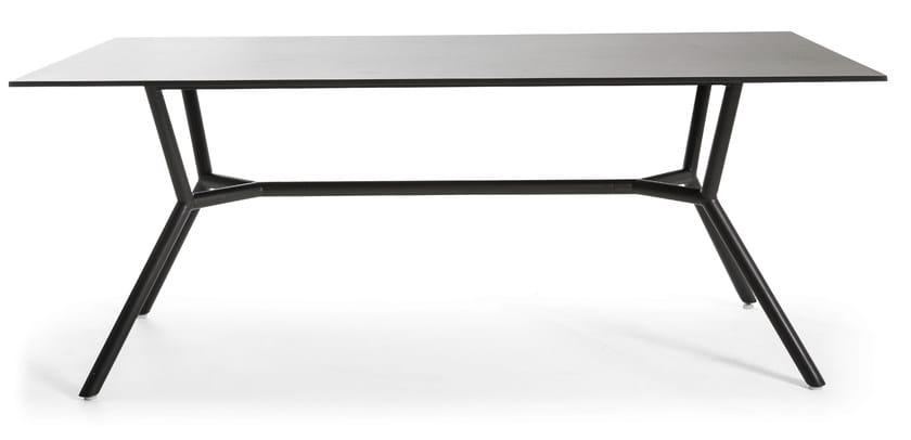 Rectangular metal garden table REEF | Metal table by OASIQ