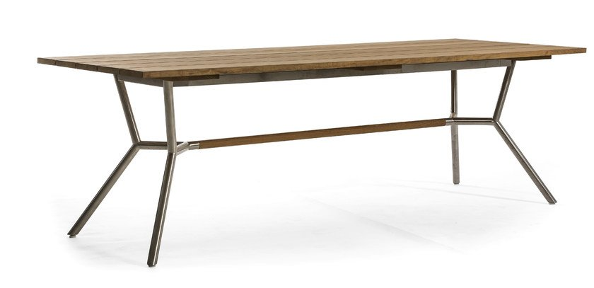 Rectangular teak garden table REEF | Dining table by OASIQ