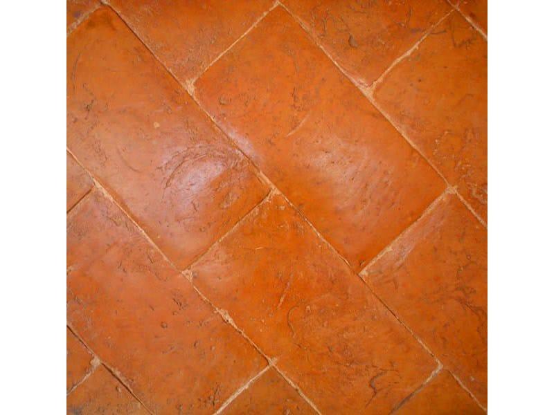 Pavimento tavella rossa levigata a carta