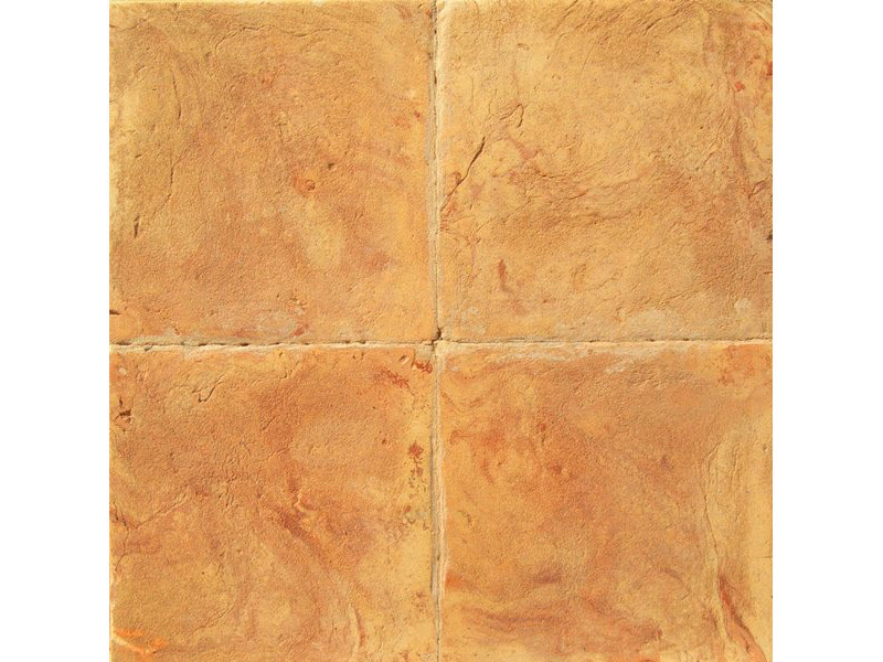 Tavella quadra gialla venato rosso e rosa
