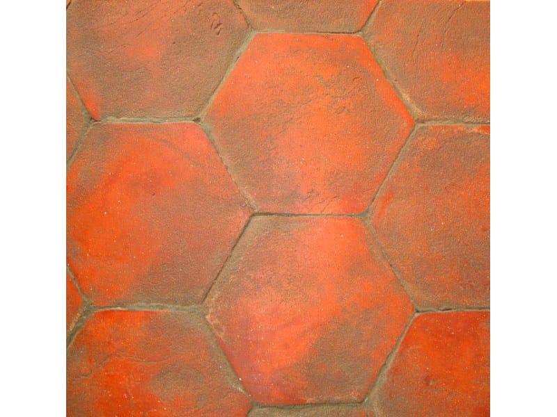 Pavimento in esagono rosso
