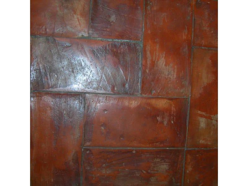 Tavella rossa retro base oleosa