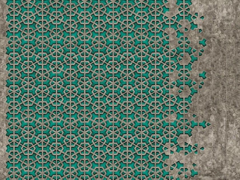 Carta da parati a motivi effetto muro geometrica exa by for Carta da parati adesiva effetto muro