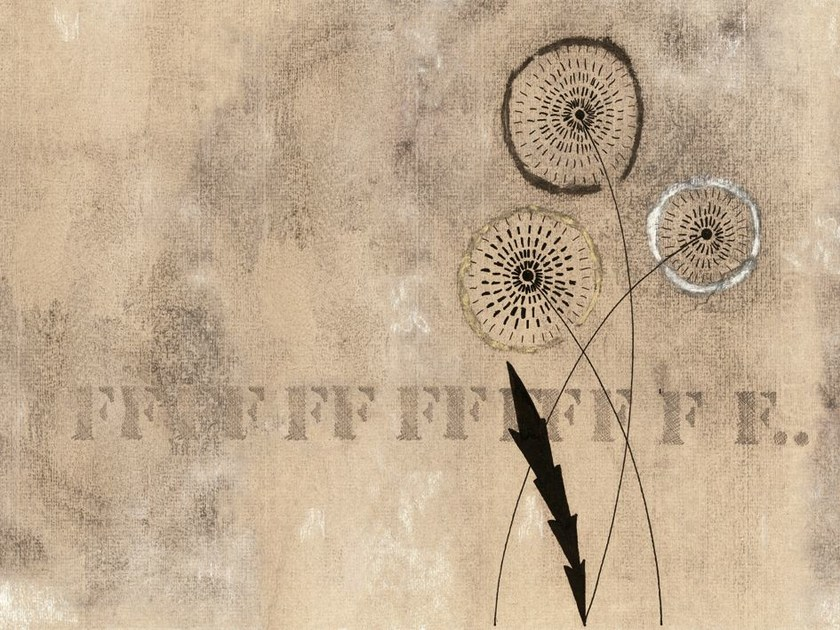 Wall effect wallpaper with floral pattern FFF... by Wall&decò