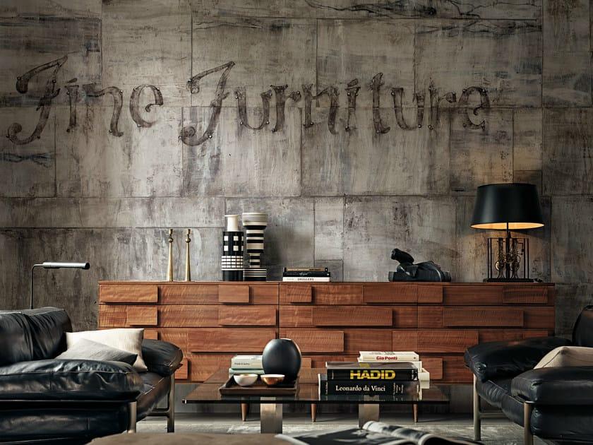Carta da parati effetto muro con scritte furniture by wall for Carta da parati effetto muro