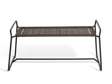 Sled base stainless steel footstool SANDUR | Footstool by OASIQ
