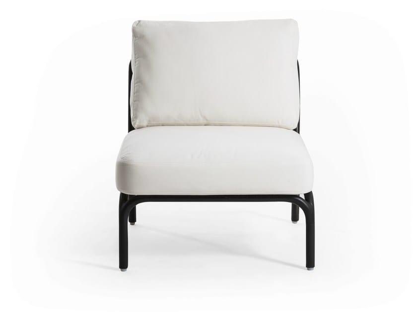 Upholstered modular armchair YLAND | Armchair by OASIQ