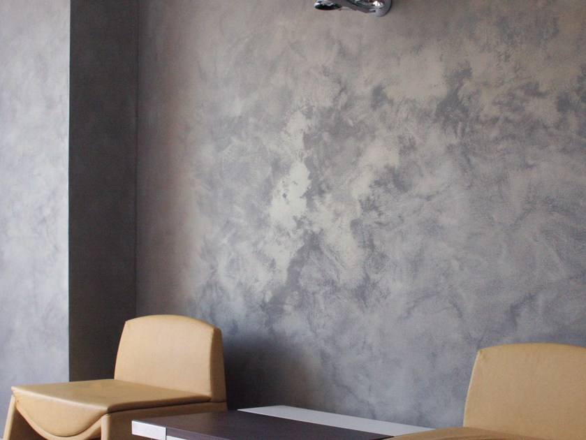 Decorative painting finish with metallic effect encanto by oikos