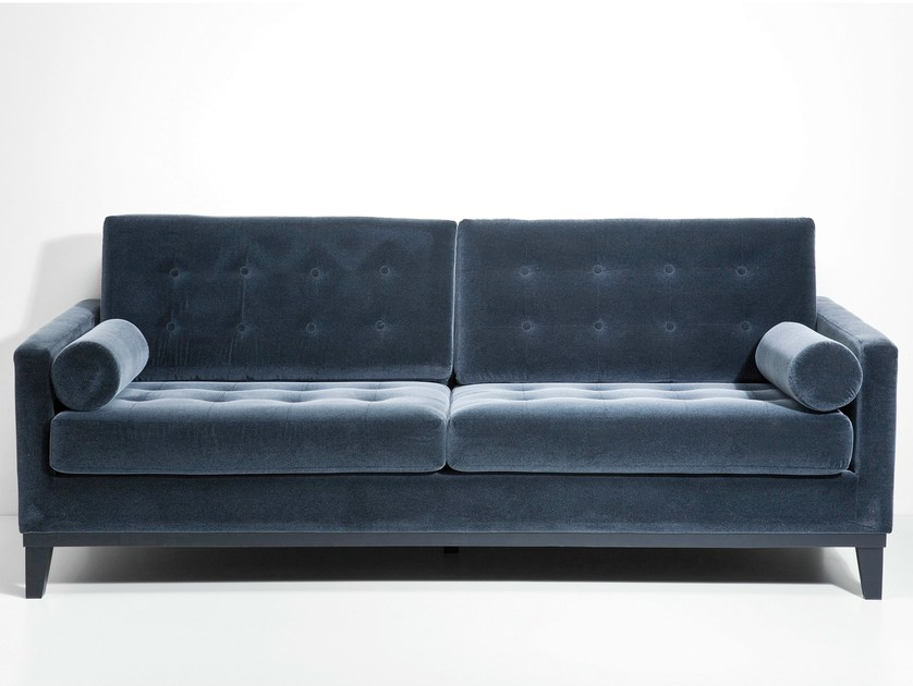 3 seater fabric sofa CASINO DARK GREY by KARE-DESIGN