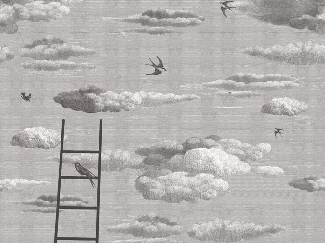 Trompe l'oeil wallpaper PRIMAVERA by Wall&decò