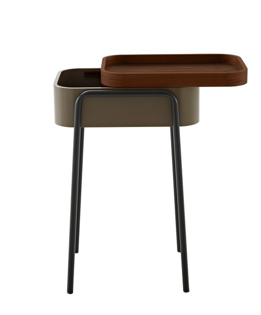 Wooden coffee table / bedside table COULISS by Ligne Roset