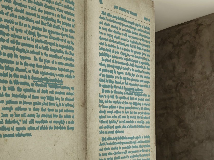 Writing wallpaper WORDLESS by Wall&decò