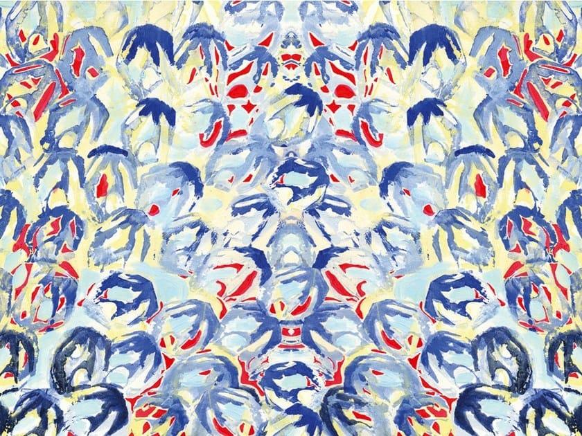 Motif wallpaper BLUEROUGE by Wall&decò