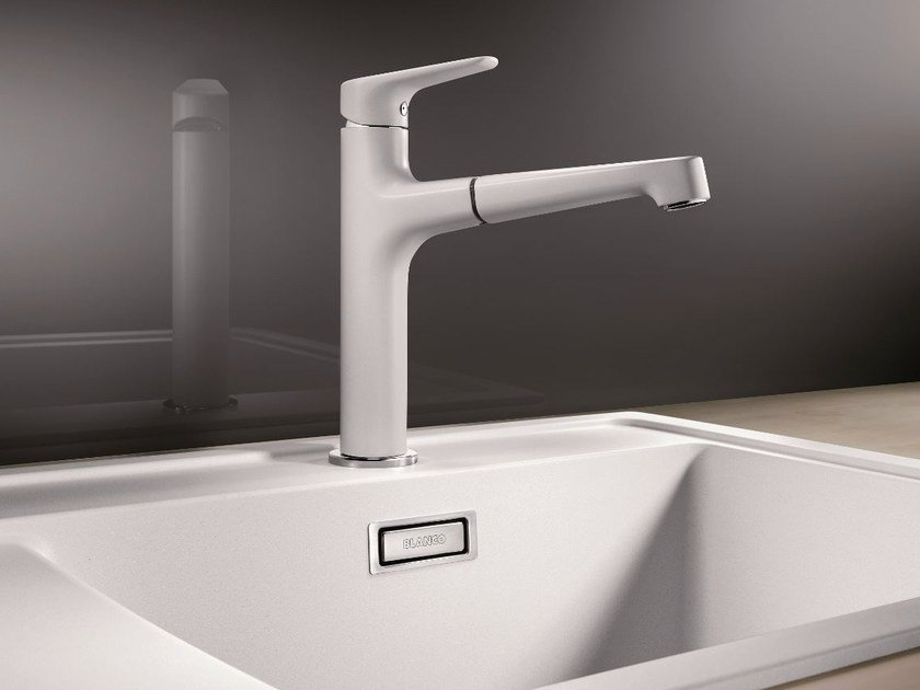 Silgranit® kitchen mixer tap with pull out spray BLANCO FELISA-S versione SILGRANIT by Blanco