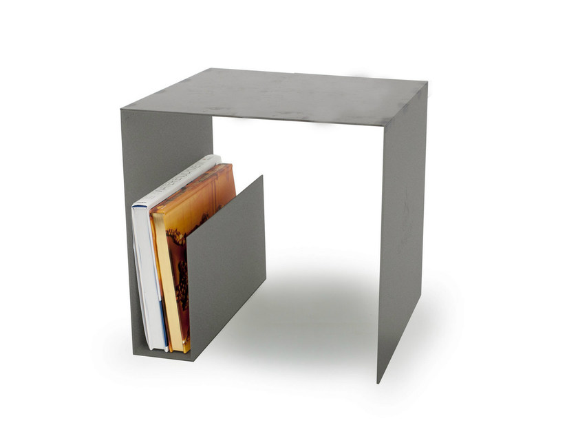Square coffee table with integrated magazine rack MURRAY by Röshults