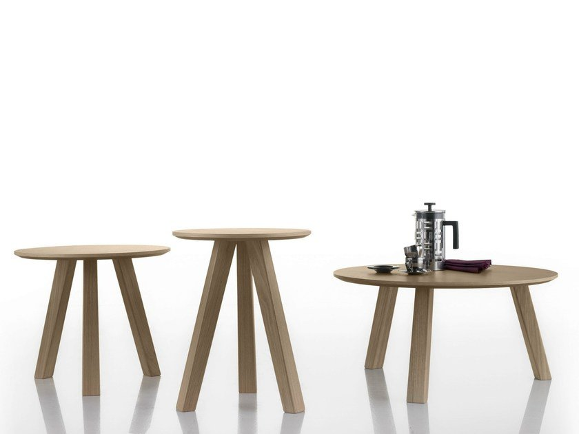 Round oak coffee table ESCAMP by Bosc