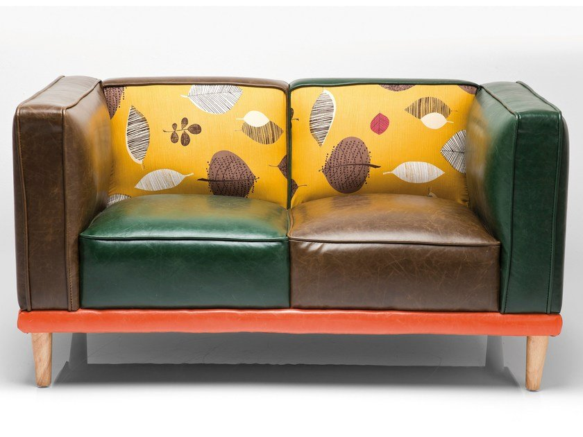2 seater fabric sofa LEAF by KARE-DESIGN