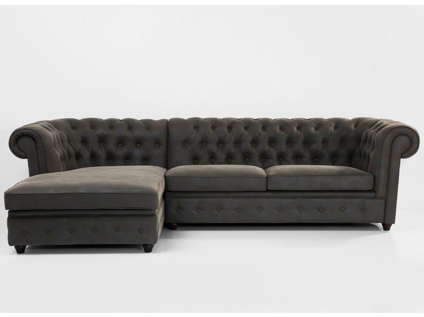 Corner 3 seater sofa OXFORD GRAPHITE by KARE Design