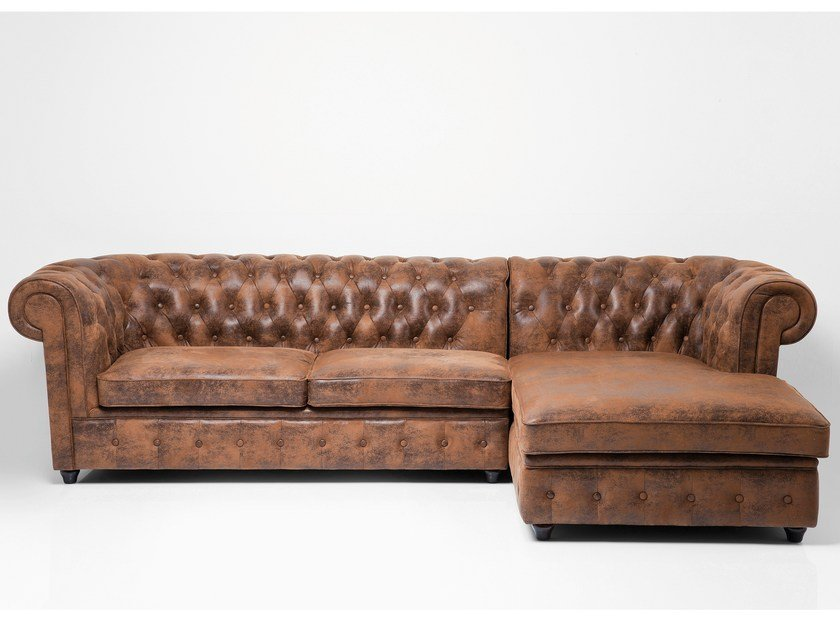 3 Seater Corner Leather Sofa Oxford By Kare Design