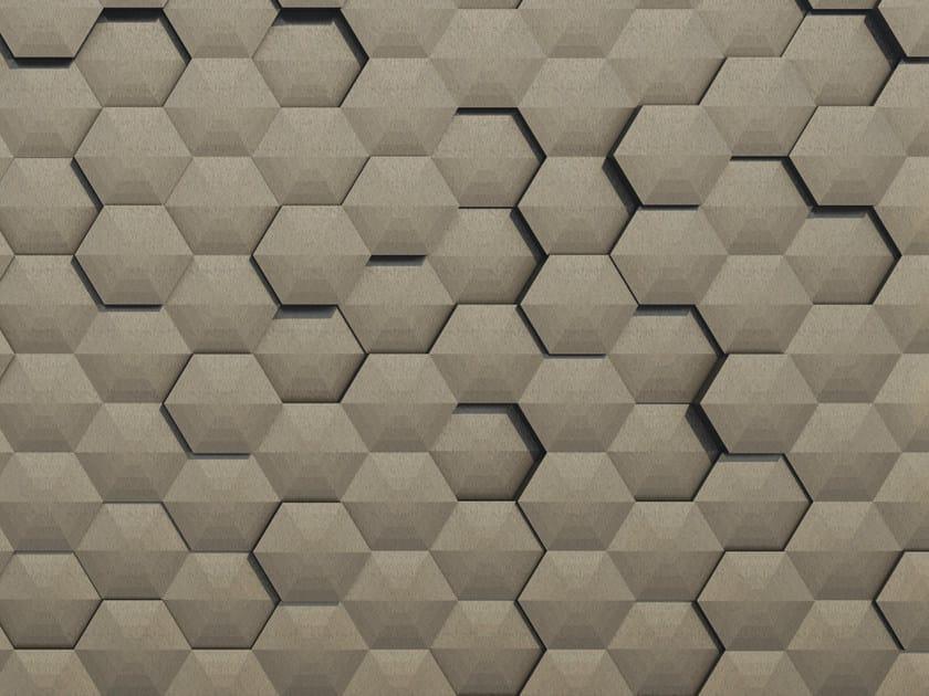 Motif geometric trompe l'oeil wallpaper TATOOINE by Wall&decò