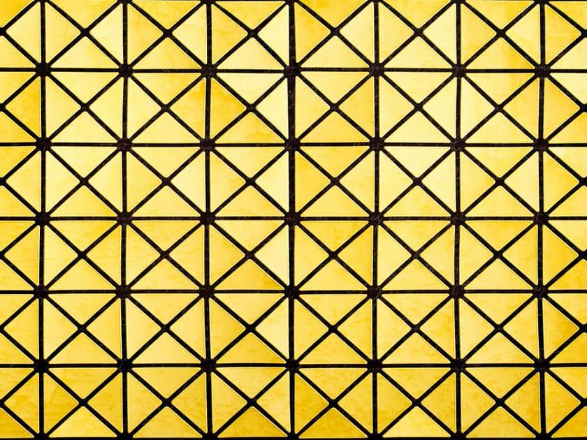 Motif geometric wallpaper SILVER+GOLD by Wall&decò
