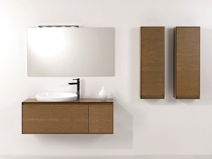 Vanity unit with cabinets with drawers LU.06 by Mobiltesino