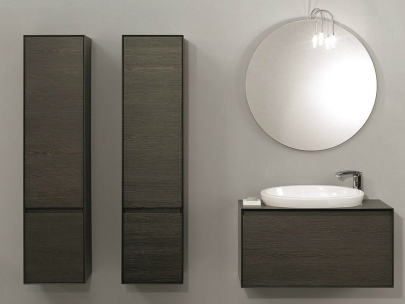 Vanity unit with cabinets with drawers LU.08 by Mobiltesino