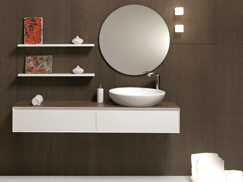 Wall-mounted vanity unit with drawers LU.20 | Vanity unit by Mobiltesino