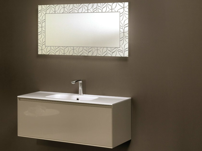 Wall-mounted vanity unit with drawers LU.15 by Mobiltesino