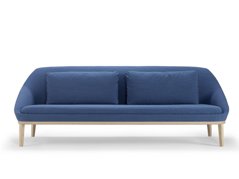 Fabric sofa EZY WOOD | Sofa by Offecct