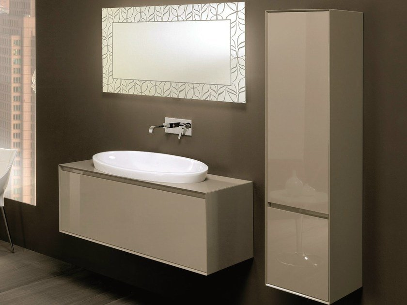 Vanity unit with cabinets with drawers LU.16 by Mobiltesino