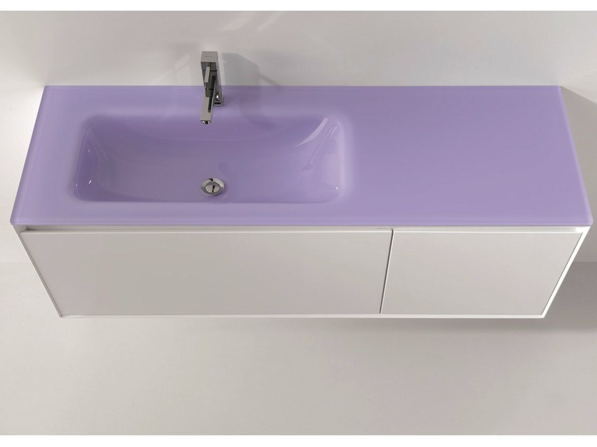 Lacquered vanity unit with drawers LU.02 by Mobiltesino