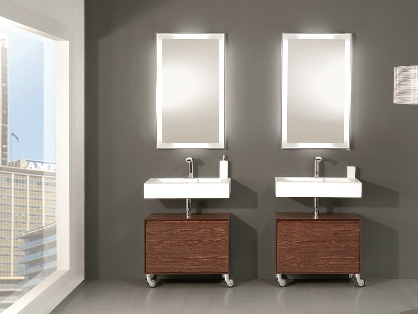 Floor-standing vanity unit with drawers LU.21 by Mobiltesino
