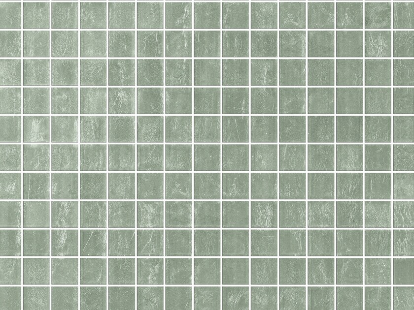 Glass mosaic WHITE GOLD CLEARVIEW by Elements Mosaic