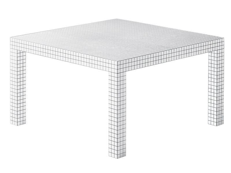 Tavolo quadrato in tamburato quaderna 2600 zanotta for Superstudio arredamento